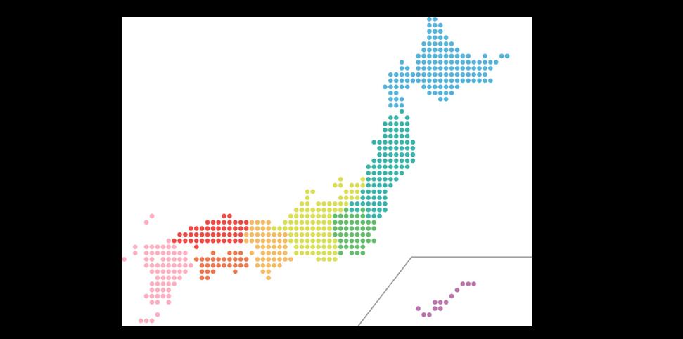 日本地図表紙用
